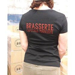 """TeeShirt """"brasserie capitalo-marxiste"""" noir féminin"""