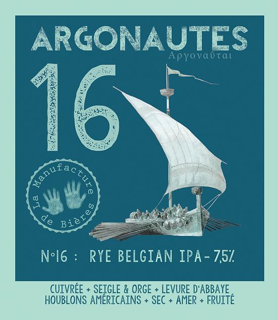 Carton 12x33cL - Argonautes n°16 - Rye Belgian IPA