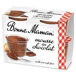 BONNE MAMAN - Mousse au Chocolat 4 Pots
