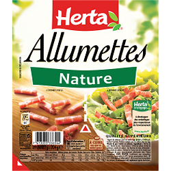 Allumettes de lardons Nature Herta