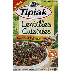 TIPIAK - Lentilles Cuisinées aux Petits Légumes