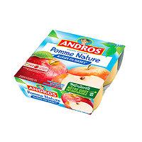 ANDROS - Compote Pomme Nature Allégée en Sucres