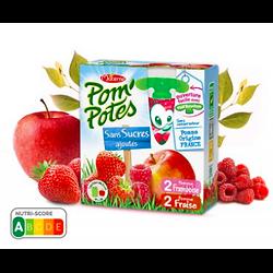 MATERNE - Pom'Potes Pomme Fraise Framboise Sans Sucres Ajoutés