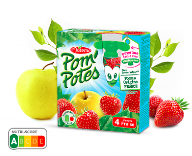MATERNE - Pom'Potes Pomme Fraise