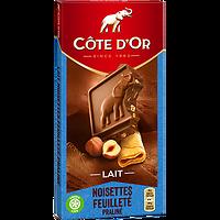 CÔTE D'OR - Lait Noisettes Feuilleté Praliné