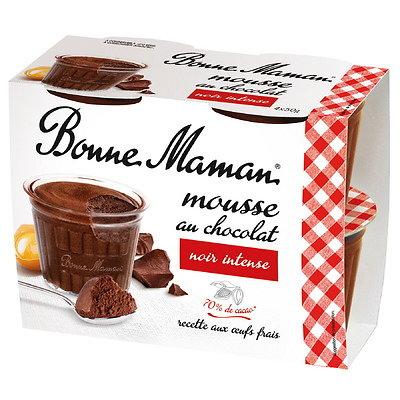 BONNE MAMAN - Mousse au Chocolat Noir