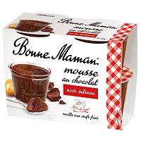 BONNE MAMAN - Mousse au Chocolat Noir 4 Pots
