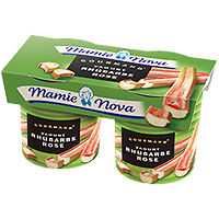 MAMIE NOVA - Yaourt Rhubarbe Rose x2