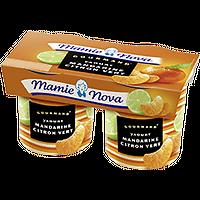 MAMIE NOVA - Yaourt Mandarine Citron Vert x2