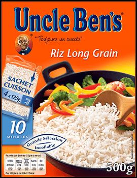 UNCLE BEN'S - Riz Long Grain Sachets Cuisson