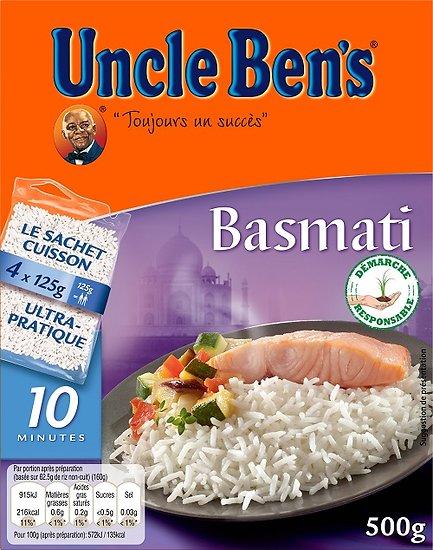 UNCLE BEN'S - Riz Basmati Sachets Cuisson