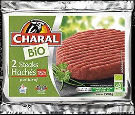 CHARAL - 2 Steaks Hachés BIO DLC 16/05
