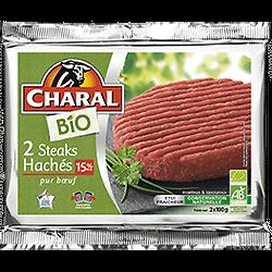 CHARAL - 2 Steaks Hachés BIO DLC 02/05