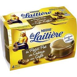 Petit Pot de Crème Café 4 x 100 g La Laitière
