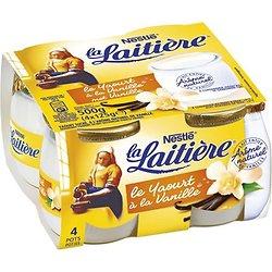 LA LAITIÈRE  - Yaourt Arôme Naturel de Vanille