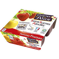 CHARLES & ALICE - Compote Pommes Fraises