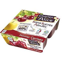 CHARLES & ALICE - Compote Pommes Cerises