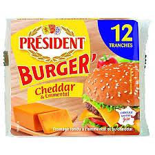 PRESIDENT - Burger' Cheddar & Emmental
