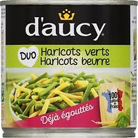DAUCY - Duo haricots verts haricots beurre 600g