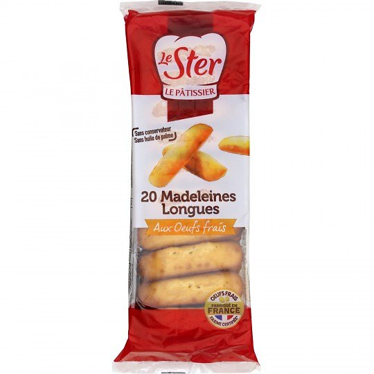 LE STER - Madeleines Longues - Recette Nature