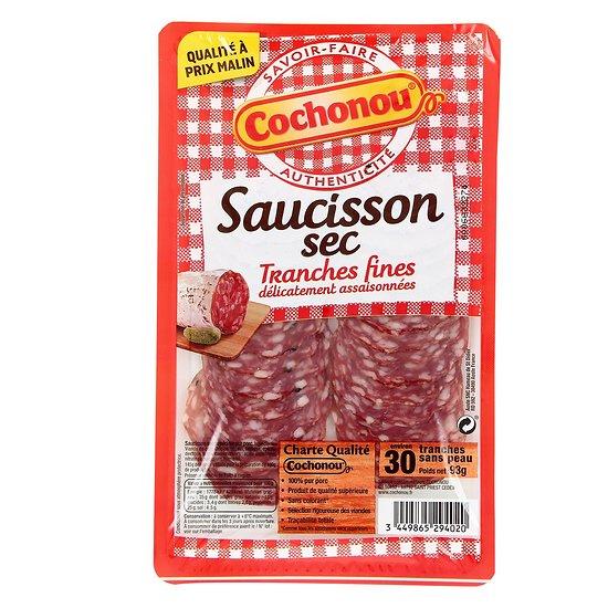 COCHONOU - Saucisson Sec - Tranches Fines