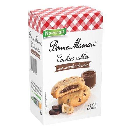 BONNE MAMAN - Cookies Sablés - Coeur Noisettes Chocolat