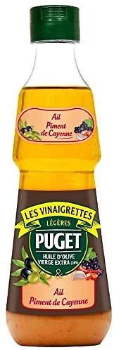 PUGET - Les Vinaigrettes - Ail / Piment de Cayenne - Huile d'Olive vierge extra 18%
