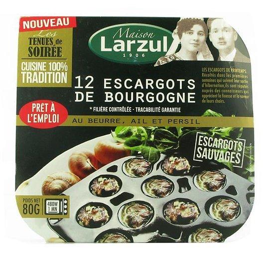 MAISON LARZUL - 12 Escargots de Bourgogne - au Beurre / Ail / Persil