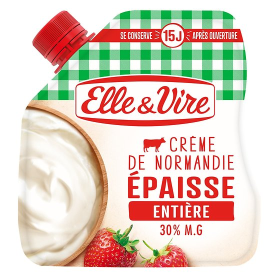 ELLE & VIRE - Crème de Normandie Épaisse - Entière