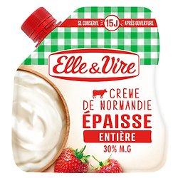 ELLE & VIVRE - Crème de Normandie - Épaisse - Entière - 33cl