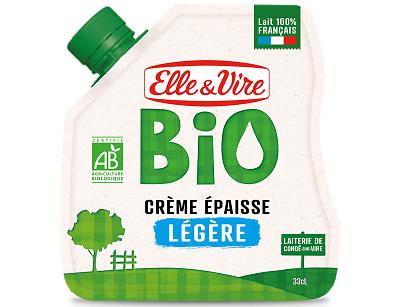 ELLE & VIRE - BIO - Crème Épaisse - Légère