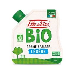 ELLE & VIVRE - BIO - Crème Épaisse - Légère - 0,33cl