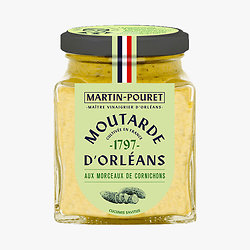 MARTIN-POURET - Moutarde d'Orléans - Morceaux de Cornichons