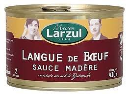 MAISON LARZUL - Langue de Boeuf - Sauce Madère