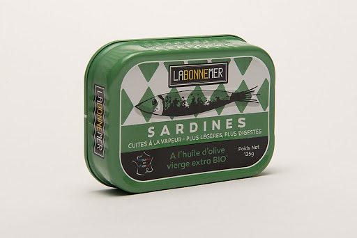LA BONNE MER - Sardines - à l'Huile d'Olive Vierge Extra BIO