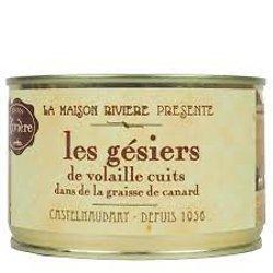 LA MAISON RIVIÈRE - Gésiers de Volaille Cuits dans la Graisse de Canard