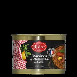MAISON RIVIÈRE - Saucisse de Montbelliard aux Lentilles