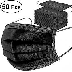 Masque Chirurgical Noir - Pack 50 pièces