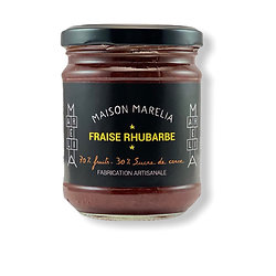 MAISON MARELIA - Confiture Fraise Rhubarbe