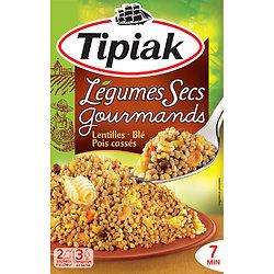 TIPIAK - Légumes Secs Gourmands - Lentilles, Blé et Pois Cassés