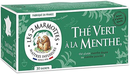 LES 2 MARMOTTES - Thé Vert à la Menthe