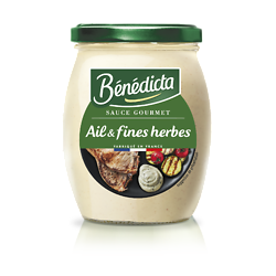 BENEDICTA - Sauce Gourmet - Ail & Fines Herbes