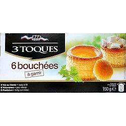 3 TOQUES - Bouchées à Garnir - 6 pièces