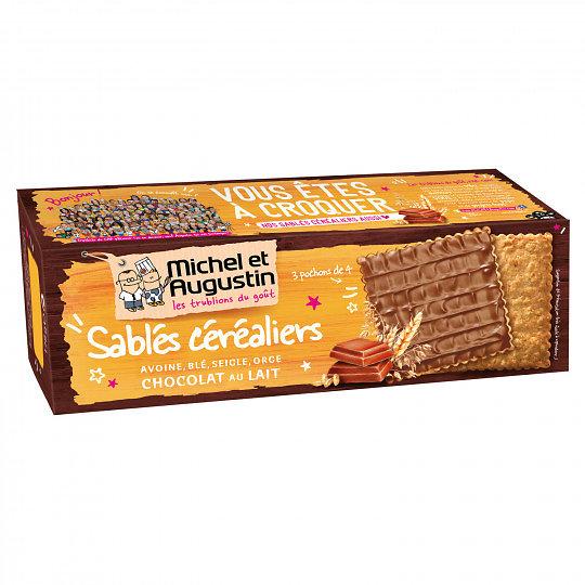 MICHEL AUGUSTIN - Sablés Céréaliers - Chocolat au Lait