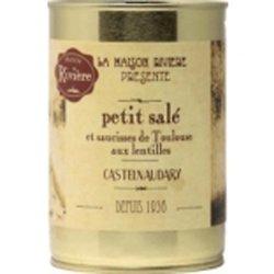 LA MAISON RIVIÈRE - Le Petit Salé et Saucisses de Toulouse aux Lentilles 840G