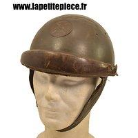 Casque de pilote de char modèle 1935/37 1935 37 Armée Française Deuxième Guerre Mondiale, WW2