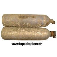 Paire de bouteilles Allemandes Deuxième Guerre Mondiale Sauerstoff Luftwaffe pour Junker 88 et autre. Avion oxygène