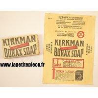 Etiquette / emballage de savon américain époque Deuxième Guerre /Mondiale. KIRKMAN BORAX SOAP. Reconstitution US WW2