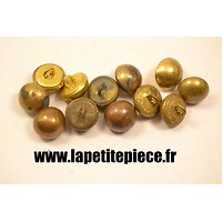Bouton 15mm lisse demi rond