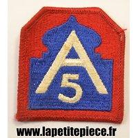 Repro insigne brodé 5th Army US